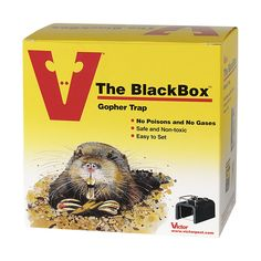 Victor® The BlackBox™ Gopher Trap - This choker-style gopher trap can be set with ease & is more effective than conventional wire claw and box traps! #trapping #backyard #outdoors