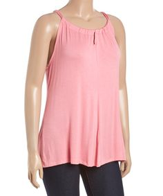 Loving this Baby Pink Yoke Top - Plus on #zulily! #zulilyfinds