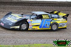 Jeff Hapala from West Fargo ND in his #16s NLRA Late Model Dirt Race Car on The Legendary Bullring River Cities Speedway in Grand Forks ND