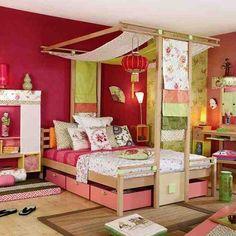 Une chambre d'ado esprit jardin japonais