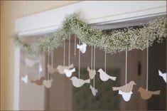 Bird Paper DIY Wedding Decorations