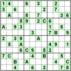 Number Logic Puzzles: 24093 - Sudoku size 12