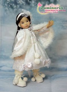 """""""Little Snow Princess"""" Dress, Outfit, Clothes for 13"""" Effner Little Darling"""