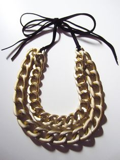 Gold Metal Chain Necklace. $35.00, via Etsy.