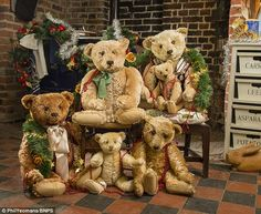 Part of the hug that my friend Jena Pang is selling on auction.  I would love to adopt all of these vintage bears!