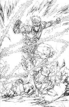 WildStorm Backlash Lines by Brett Booth Dc Comics Art, Image Comics, Character Ideas, Character Art, Comic Books Art, Comic Art, Otaku, Brett Booth, David Finch