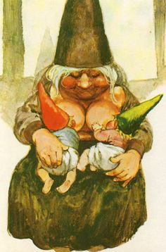 Hey, I found this really awesome Etsy listing at https://www.etsy.com/listing/225313684/vintage-postcard-gnome-elf-lisa-from