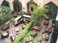 Commercial Design, Commercial Interiors, Courtyard Restaurant, Retail Space, Courtyards, Plants, Big, Courtyard Gardens, Plant