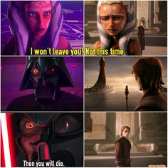 It's so sad that Vader would want to kill Ahsoka