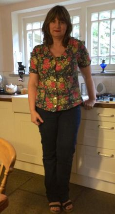Gorgeous Mimi blouse by Mrs.Wilson - her first ever go at sewing! #LoveAtFirstStitch