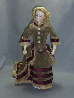 """Original Gown, fits 13"""" French Fashion"""