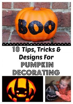 10 Tips Tricks and Designs for Pumpkin Decorating