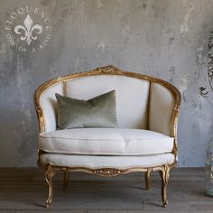 Vintage Petite Gilt Settee would be gorgeous at a sweetheart table for bride and groom!