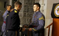Cadet William Alfonsi '13 receives the Henry O. Flipper Award for demonstrating the highest quality of leadership, self-discipline, and perseverance in the face of difficulty, in honor of one of West Point's strongest graduates!