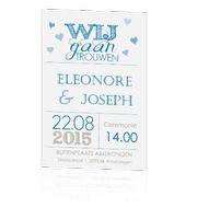 trouwkaart-typografie-modern-wij-gaan-trouwen-koningsblauw