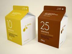 Tehéntúró (cottage cheese) / Packaging.