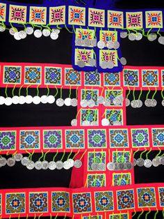 hnab nyiaj hmoob Hmong Clothing, Cross Stitch, Fabrics, Belt, Quilts, Money, Holiday Decor, Jeans, Clothes