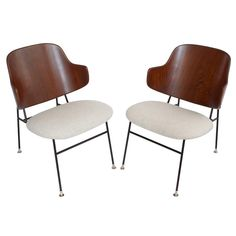 Pair of Ib Kofod Larsen Penguin Lounge Chairs | 1stdibs.com