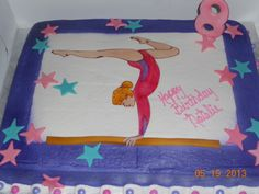 My daughter gymnastic birthday cake!! It was great!!