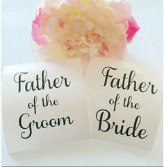 Father of the Bride  Father of the Groom  DIY by OhSoSweetandSassy
