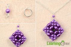 finish how to make a beaded pendant