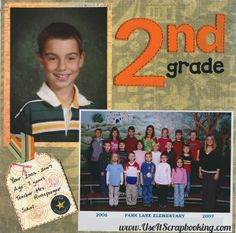 2nd grade class scrapbook page - www.useitscrapbooking.com