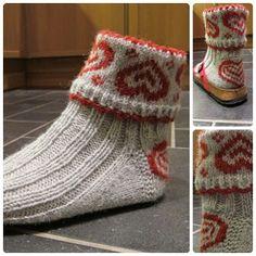 .lovely hearts on socks - fairisle pattern