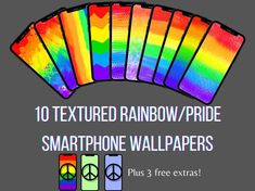 Rainbow Smartphone Wallpapers, LGBTQ+ pride backgrounds, pride flag iPhone wallpapers