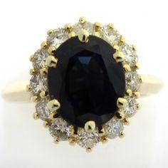 Bague saphir or et diamants. 2600 euros TTC  #bague #vintage #fiancailles #paris