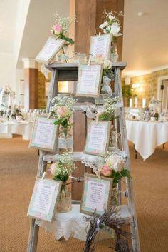 Beautiful idea for wedding table plan