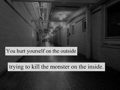 What self harmers do. Don't be a self harmer please. It eats away at you and soon your whole live revolves around it. You start looking at others and feel guilty when their wrist are clean. People notice your scars but don't say anything. That is one of the worst things in the world. Please, don't self harm.