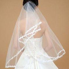 """New 60"""" Lacework 1.5M Graceful Lace Edge Mantilla Wedding Part Dress Bride Veil   $7.99"""