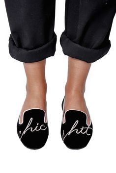 Chic Shit Velvet Loafer - #ModernVice | With italian comfort leather innersole | Check out more of our Summer Sale Shoes: http://www.modernvice.com/collections/summer-sale #pink #black | loafers outfit | loafers for women |