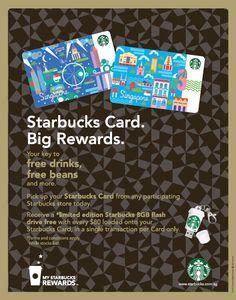 New Starbucks cards in Singapore