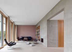 Stuttgart house by (se)arch with shingle-clad walls and an art gallery
