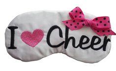 Items similar to Cheerleader Spirit Gifts I Heart Cheer Sleep Mask Cheer Sleepover Team Favors on Etsy Cheer Gift Bags, Cheer Gifts, Cheer Bows, Cheer Spirit, Spirit Gifts, Cheer Camp, Cheer Dance, Cheerleading Crafts, Cheer Banquet