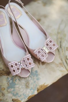 #Pink #Shoes | On SMP: http://www.StyleMePretty.com/canada-weddings/ontario/toronto/2014/01/24/lavender-wedding-inspiration-at-weirs-lane-lavender-farm/ Purple Tree Photography