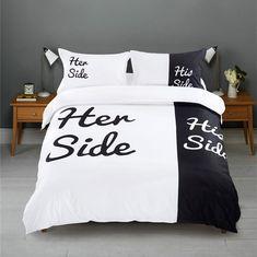Her Side / His Side #bedding Duvet Cover Set