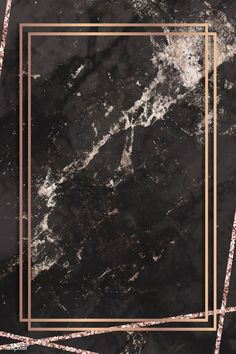 Rectangle frame on black marbled background vector Black Marble Background, Black Background Wallpaper, Luxury Background, Gold Background, Textured Background, Black Backgrounds, Wallpaper Backgrounds, Backdrop Background, Wallpapers