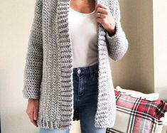 Montana Cardigan Crochet Pattern by Brechelle Crochet Beanie Pattern, Crochet Coat, Crochet Cardigan Pattern, Easy Crochet Patterns, Crochet Shawl, Crochet Clothes, Knitting, Sweaters, Cardigans