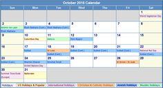 October-2016-Calendar-with-Holidays.png (761×413)