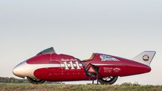 Thunder Stroke Indian motorcycle speed record car