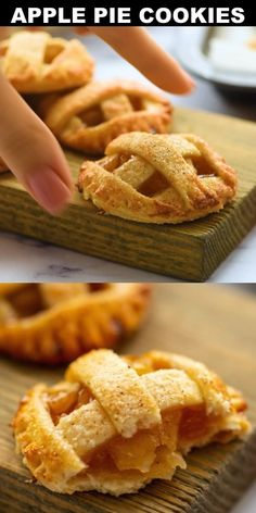 holiday desserts How to make Apple Pie Cookies! Easy to make twist on a classic apple pie perfect for a fall time treat or a holiday dessert! They are like mini apple pies but in a delicious cookie! Fun Holiday Desserts, Easy Desserts, Mini Desserts, How To Make Desserts, Healthy Christmas Cookies, Mini Dessert Recipes, Holiday Pies, Unique Desserts, Health Desserts