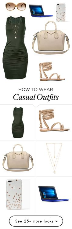 """""""Working casual"""" by amanda-canales-polanco on Polyvore featuring Venus, Louis Vuitton, Givenchy, Natalie B and Kate Spade"""