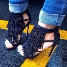 Steve Madden Suede Fringe Heels Super chic and perfectly on trend! Blogger favorite! Brand new in the box. No trades!! 012616230dr Steve Madden Shoes Heels
