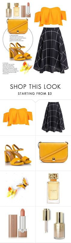"""""""Chique."""" by anybarb ❤ liked on Polyvore featuring Boohoo, Fratelli Karida, Topshop, Tory Burch, Marc Jacobs and Stila"""