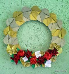 Origami Bela Flor: Guirlanda dourada