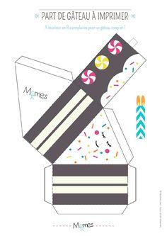 Cajita porción con velita Paper Toys, Paper Gifts, Diy Paper, Diy Gift Box, Diy Box, Soirée Pyjama Party, Paper Cake, Gifts For Kids, Diy And Crafts