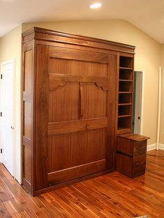 pretty murphy bed (and somehow fits??)