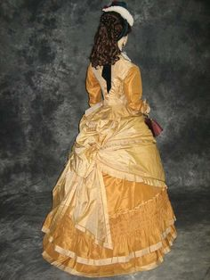 A lovely example  of an 1870's afternoon   visiting gown.